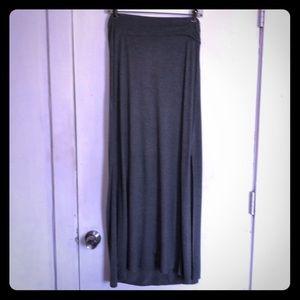 Rock & Republic Gray Maxi Skirt Size L